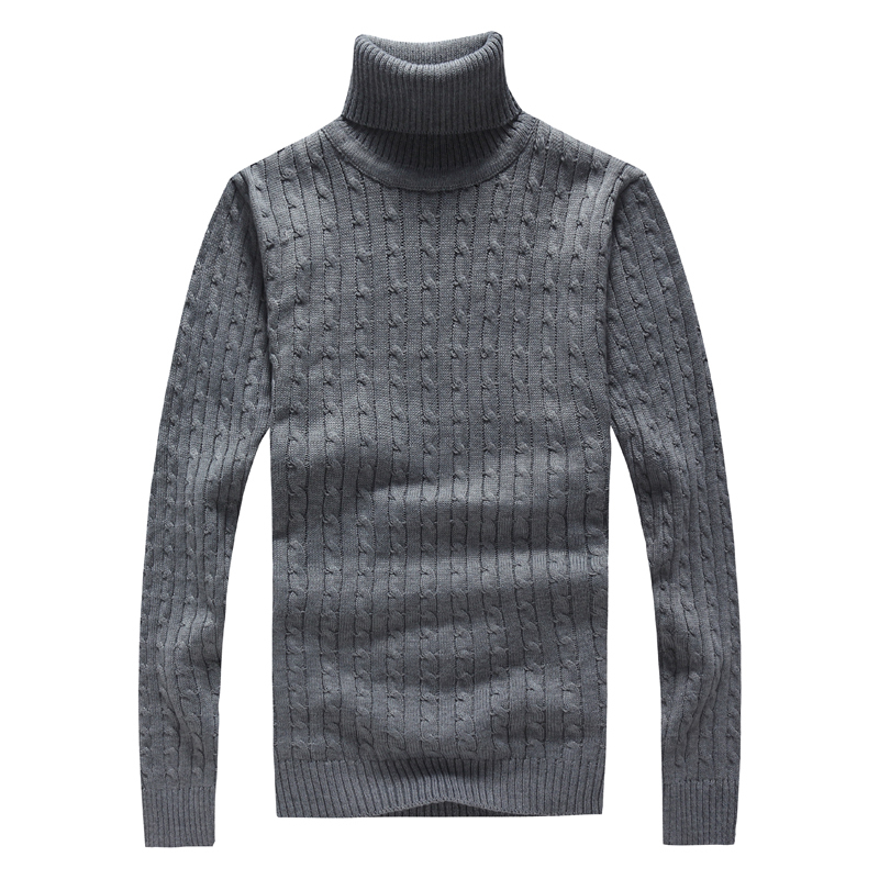 M/&S/&W Mens Slim Fit Turtleneck Knitted Pullover Sweaters