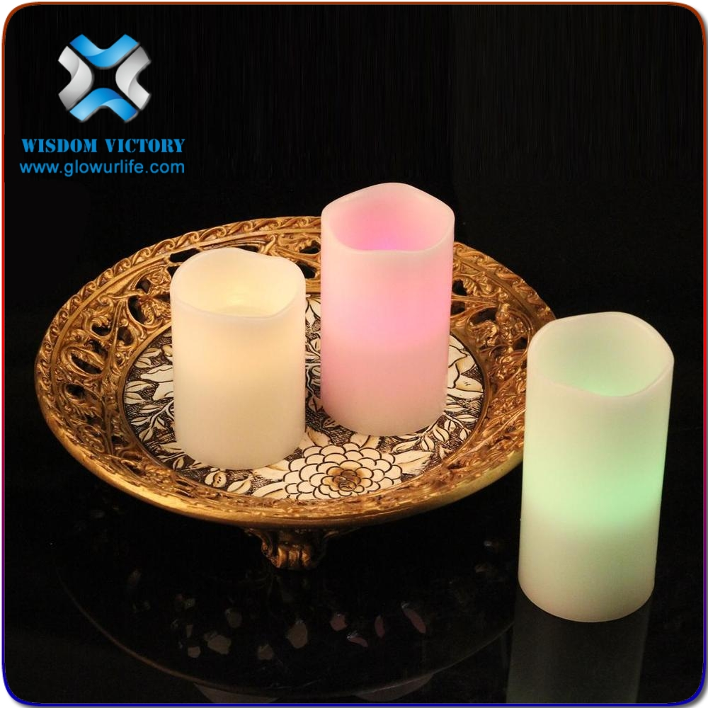 halloween flameless led wax candles with remote control set of 3