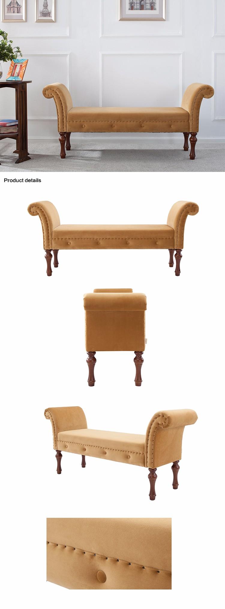 2017 Nuevo Diseño Hogar Muebles De Madera Maciza Marco Brazo Banco ...