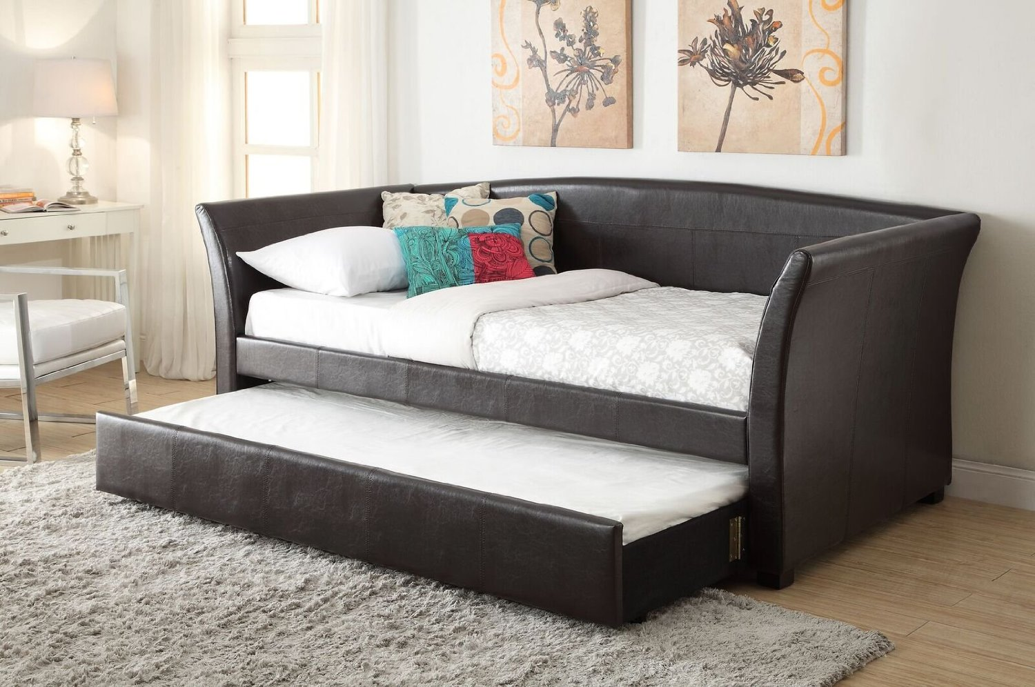 daybed with trundle. Get Quotations · Pearington Kempton Faux Leather Trundle (must Be Purchased With Daybed) Daybed