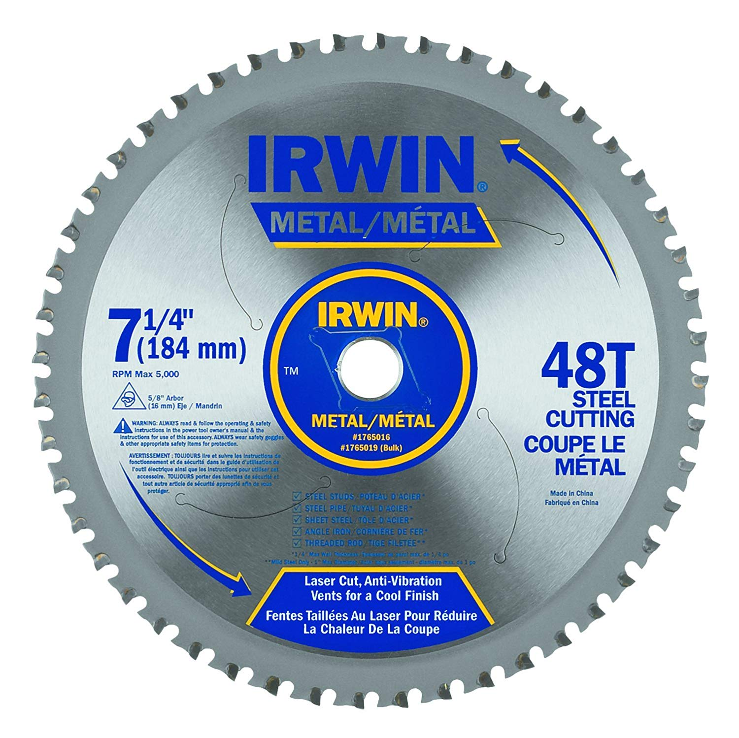 Porter /& Cable 14103 72 Tooth Riptide Dry Metal Cutting Circular Saw Blade