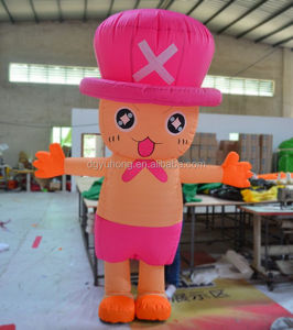 inflatable moving cartoon costume with person inside, mobile mascot