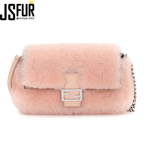 Fashion Girl Small Cute Genuine sheep Fur Hand bag OEM Wholesale