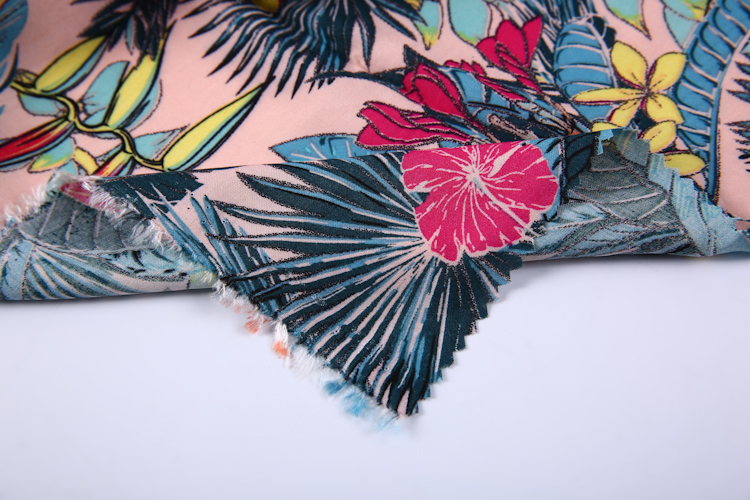 Hawaii style air jet custom woven plain 100% rayon custom Swiss rayon voile fabric printing