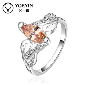 Wholesale European And American Design Oustanding Mixed Amber Jewellery Ring