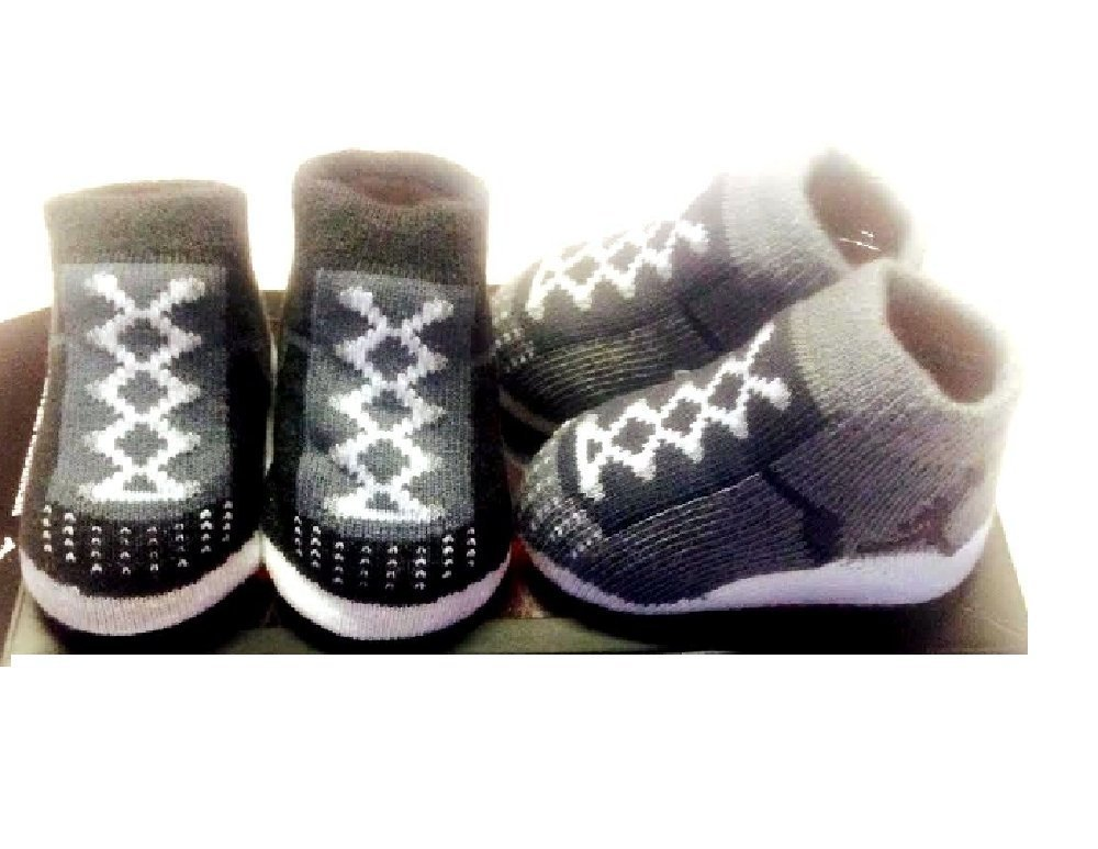 159f527599c911 Get Quotations · NIKE AIR JORDAN Infant Baby Boys Booties Lite Grey Dark  Grey 0-6 M