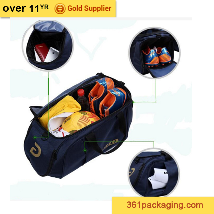 2016 customized polyester gym duffel sport bag for men