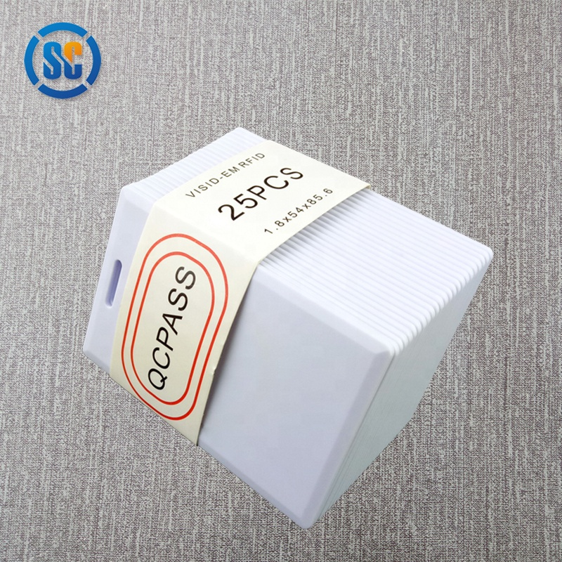 Large in stock 1.8mm thickness rewritable calmshell t5577 rfid thick card