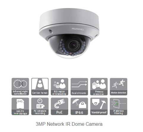 Huawei Ipc6522-z30 3mp Network Infrared Ip Dome Camera - Buy Huawei  Ipc6522-z30,Infrared Camera,Ip Camera Product on Alibaba com