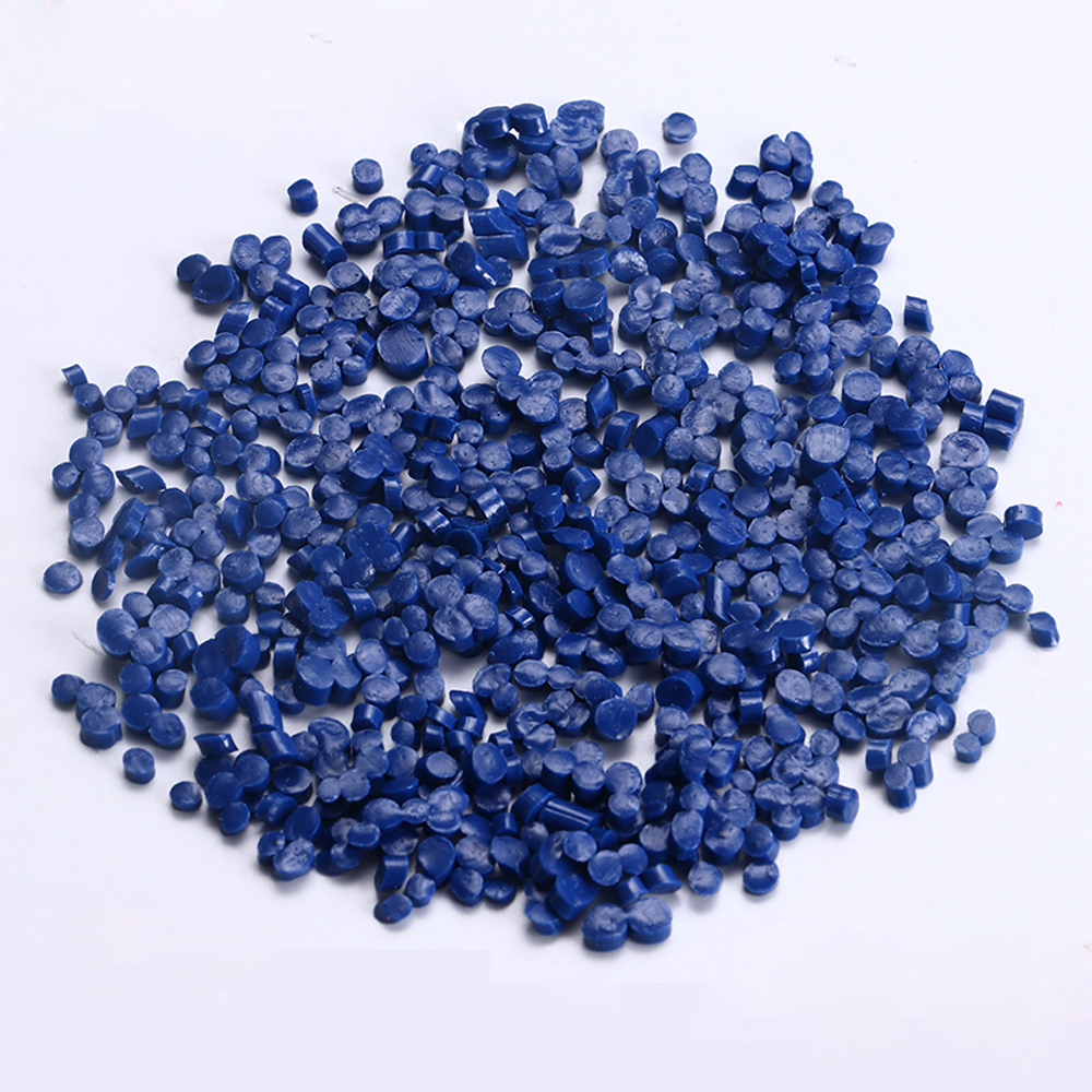 Hot sale mazarine recycled plastic granules for shoe