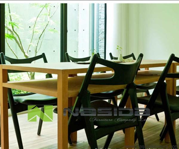 Ch walnoot hans wegner massief houten stoel in eetkamer buy