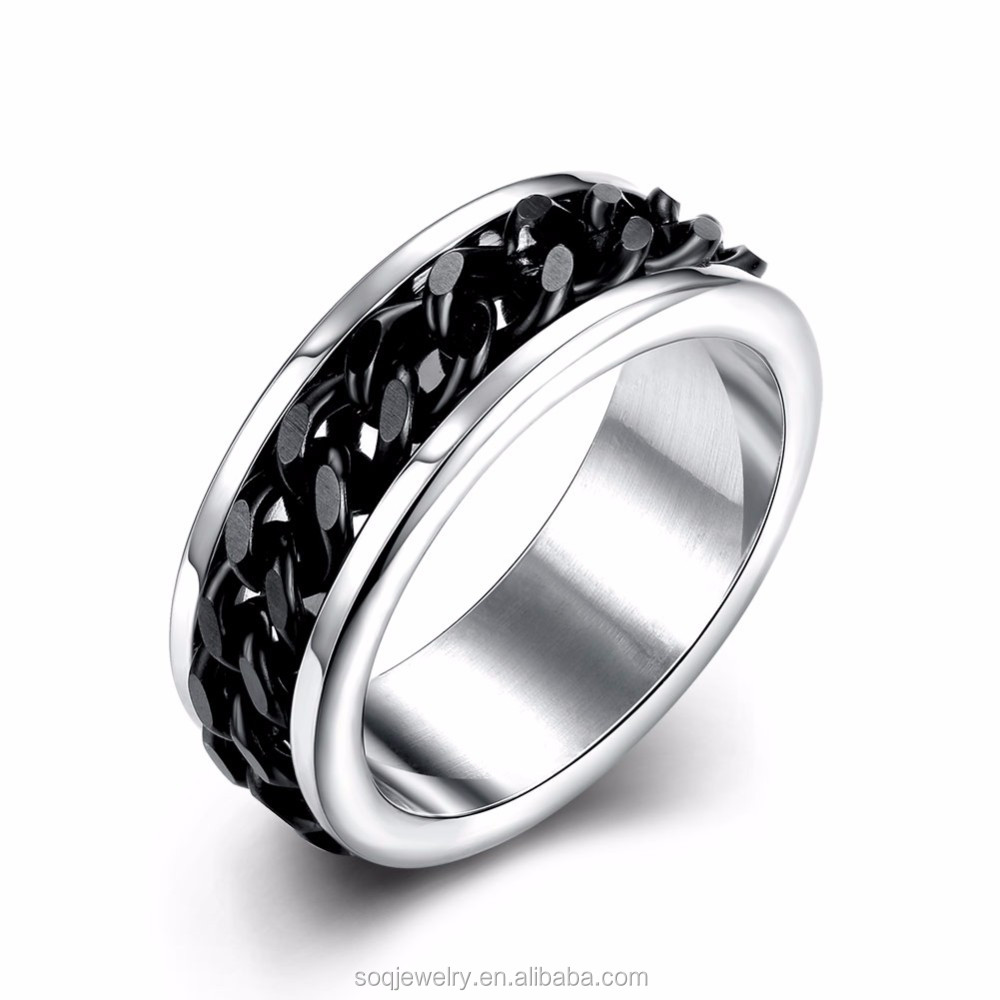 Tungsten Gear Ring Metal Mens Wedding Band Ring In Comfort Fit