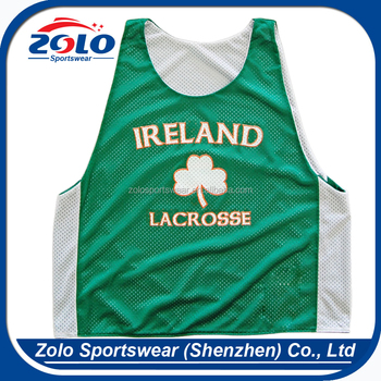 Cheap Green Color Reversible Lacrosse Mesh Pinnies