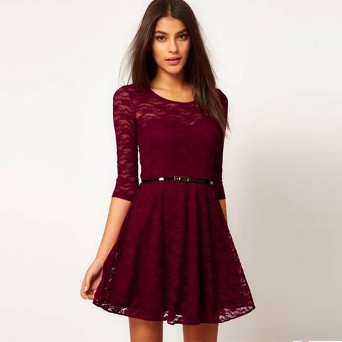 78d2831c2b38a Autumn Sexy Women Fashion Lace Casual Dress Tight Fit Brand Dress Woman Size