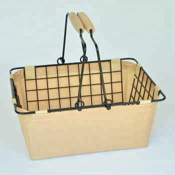 metal cosmetic shopping baskets
