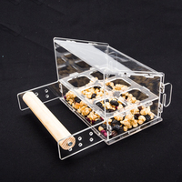 Assmebled Hang on the Cage Crystal Clear Acrylic Bird Feeders with 6 Troughs