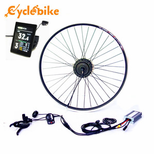 TFT display Waterproof Ebike Front/ Rear Motor wheel Kit 36v 250w Electric bicycle conversion kit for Electric bike kit