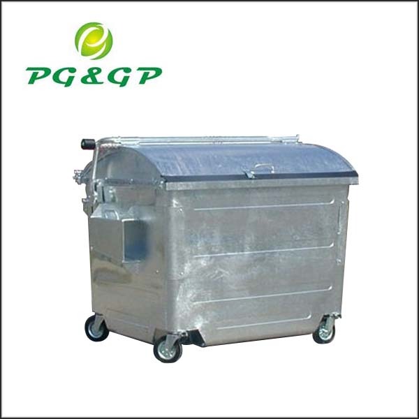2500L Galvanized Waste Containers Municipal Bin,Garbage Container,Large Dustbin