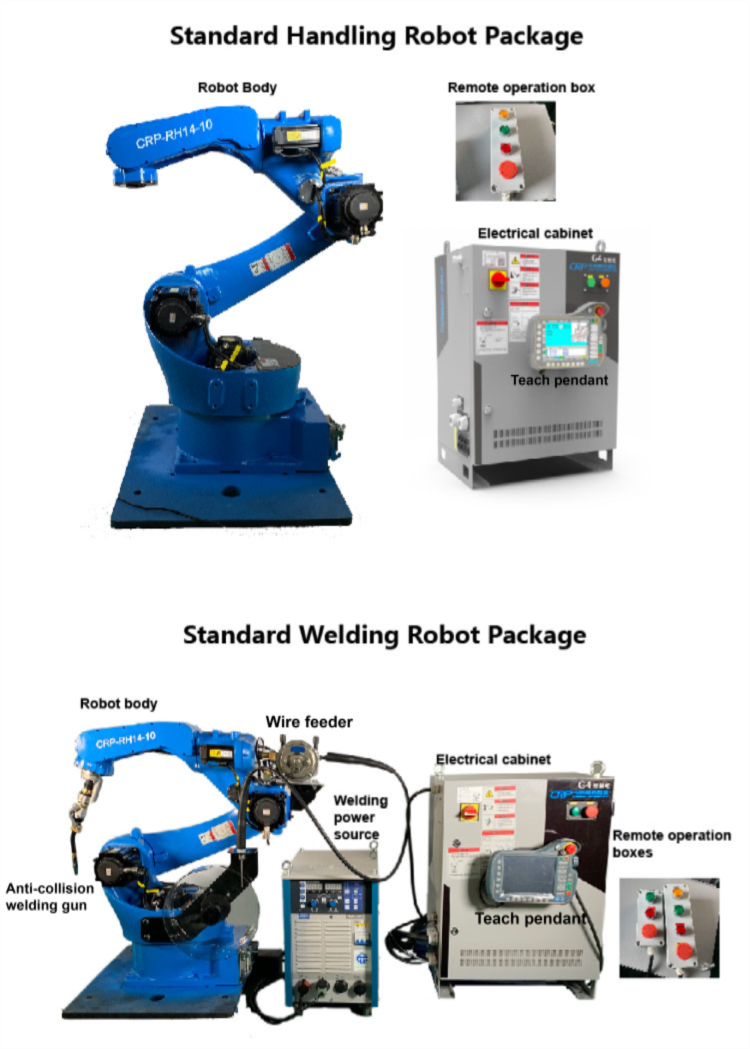 6 axis programmable small industrial cnc welding robot arm
