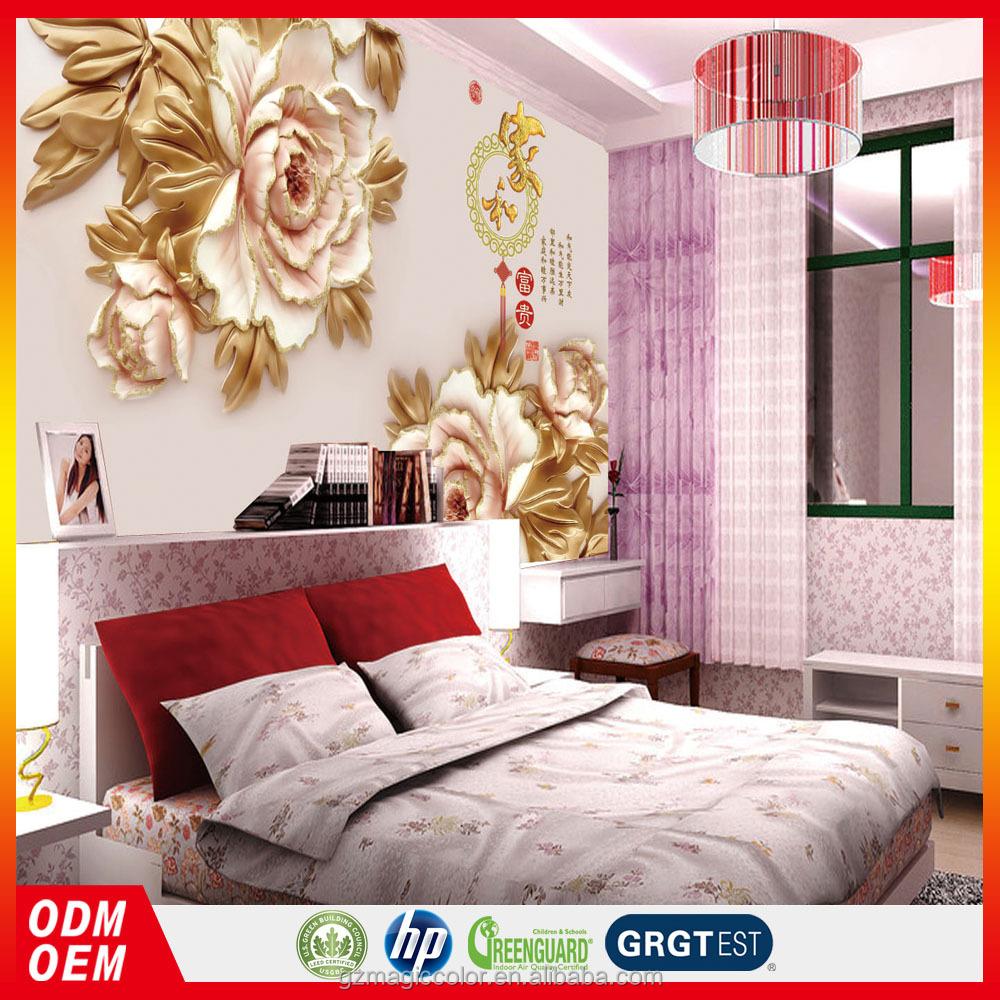 3d personalizado murales papel pintado textura flor china for Papel pintado personalizado