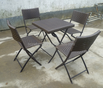 Cheap Dinning Table And Chair Garden Dining Set Wicker Rattan Chair Table
