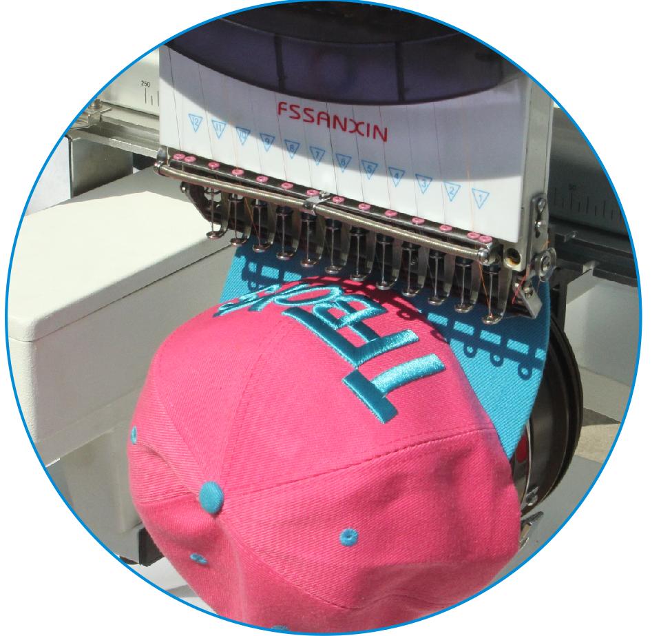 custom hat machine