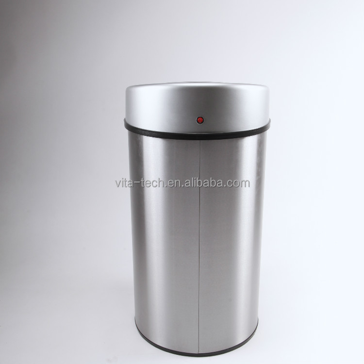 40L Modern Style Stainless Steel Round Indoor Intelligent Electronic Trash Can