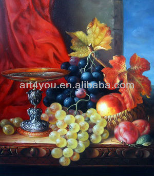 acrylic oil paintings fruit and coper ware on canvas 22603