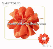 handmake orange flower garment brooches/corsage fashion wedding brooches(FL-027)