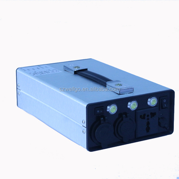 Rechargeable AC220V 110V 300W No break Off-grid Lithium Battery Portable Emergency Lighting backup Mini UPS Power supply