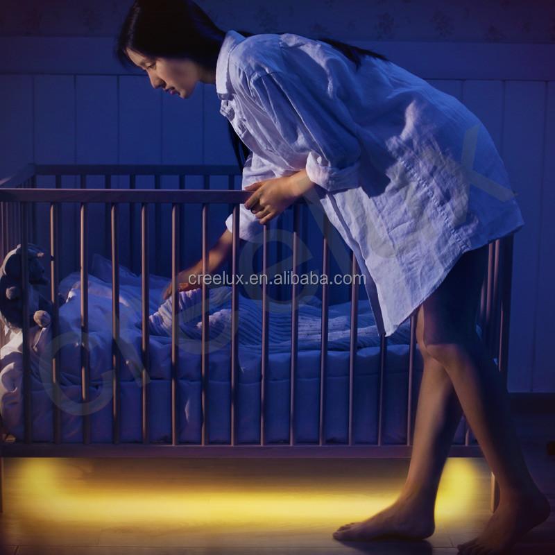 Motion Sensor Baby Crib Bedside Night Light Led Strip Kit Closet