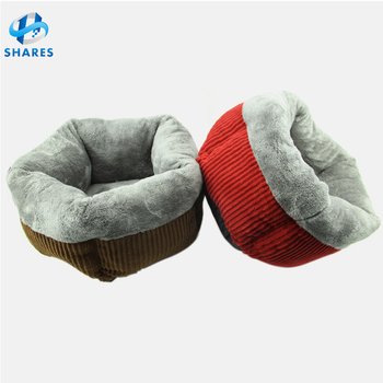 Best Pet Supplies Pet Warming Cat Round Bed Blanket Assorted Animal Pillow Thick Pumpkin Pet Cat Dog Bed Round