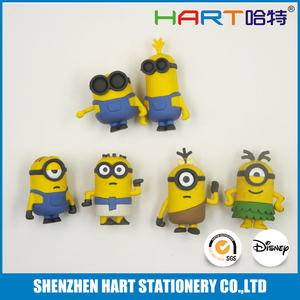 Yellow Cartoon Characters Promotional Rubber Eraser