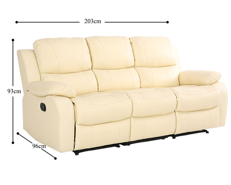 Awesome Modern Top Grain Leather 3 Seater Recliner Set Electric 2 1 Forskolin Free Trial Chair Design Images Forskolin Free Trialorg