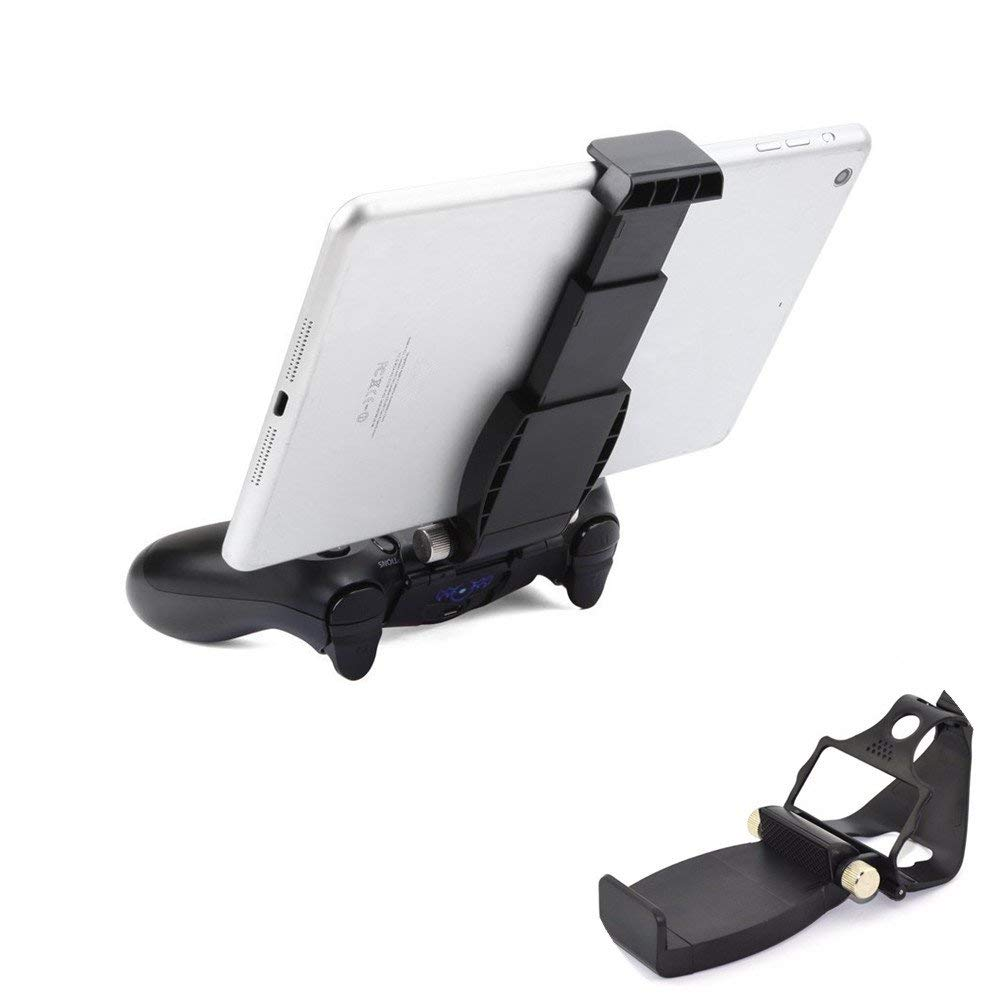 Beracah Universal Smart Clip Cell Phone Smart Game Clip Clamp Holder Mount Stand for PS4 Controller (Black)