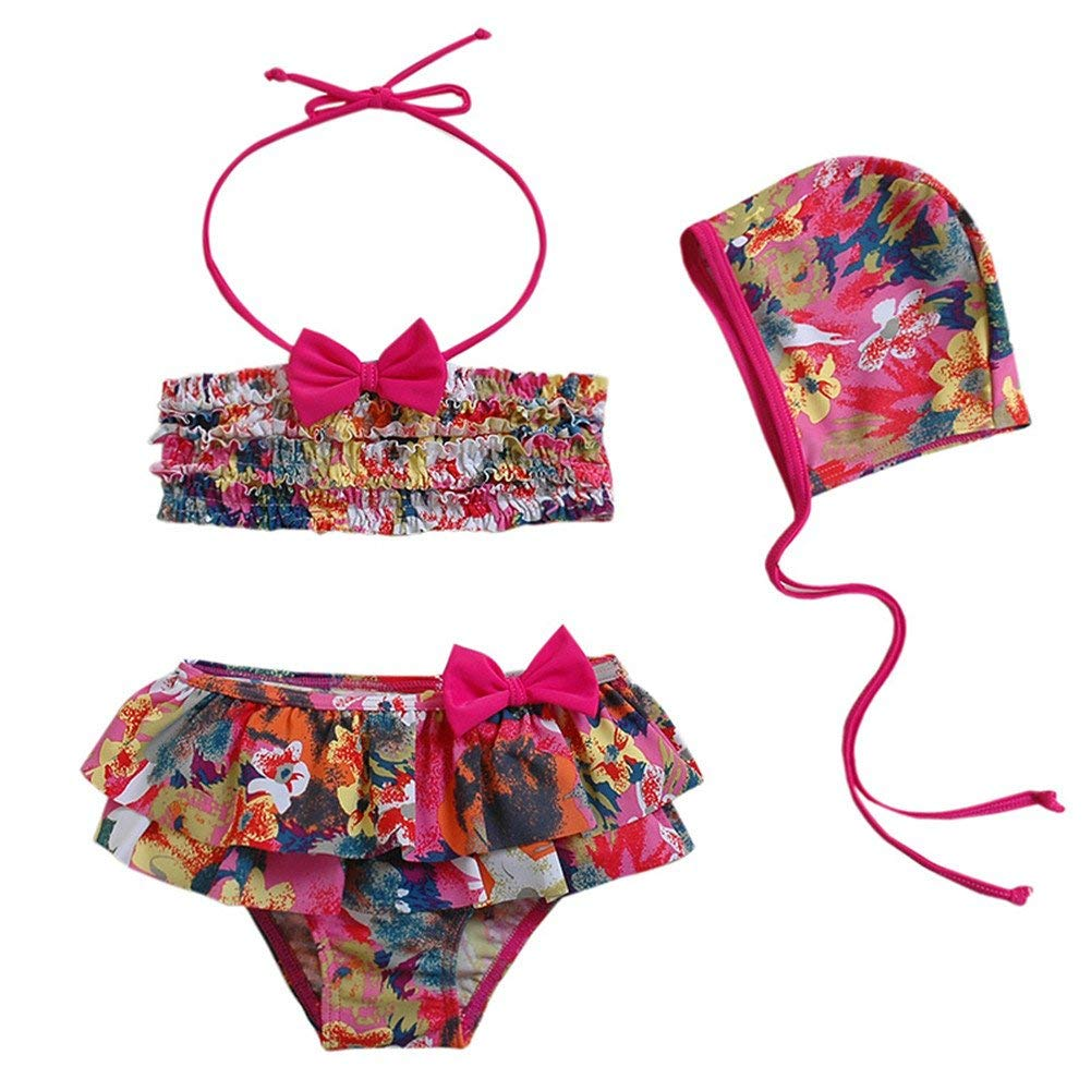0c088b7b7f1 Get Quotations · Toddler Baby Girl Bikini Swimsuit Kid Swimwear Two Pieces Bathing  Suit