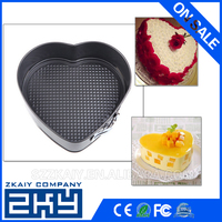 Kitchen Stainless Steel Cake Moulds Tools Heart Shape Mousse Cake Pan Bakeware Mould Non-stick Pan