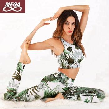 Instagram Floral Fashion Ropa Mujer Green 2018 Yoga Fitness Set Celana Gym Clothing Always Legging Bra Buy Yoga Set Ropa Mujer Yoga Clothing Product On Alibaba Com