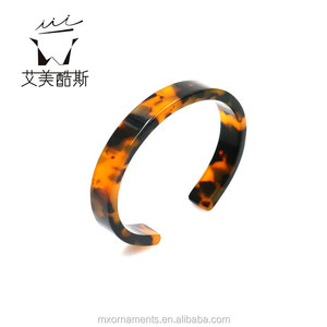 European style waterproof ECO-friendly tortoise shell bangle bracelet