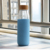 2019 Custom Borosilicate Glass Water Bottle With Silicone Sleeve Bamboo Lid