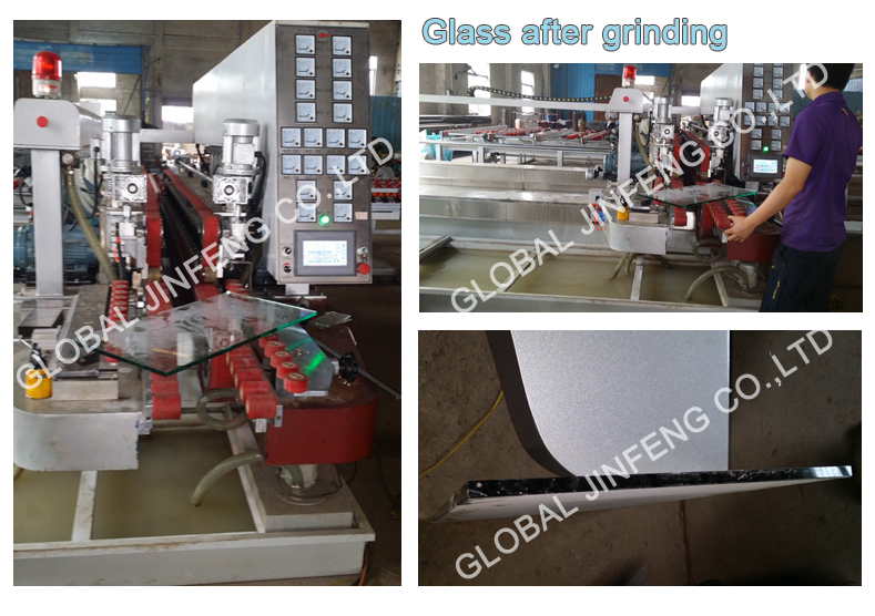 L-type Automatically glass double edger line for building glass working