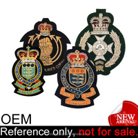 cheap club crest uniform custom pakistan embroidery blazer pocket badge