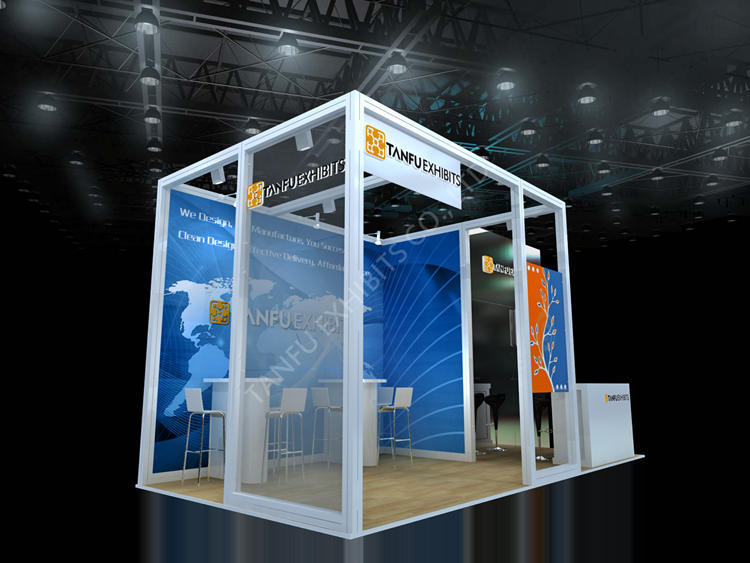 Modular System Booth 3x6 Or 10x20 With Storage Room From