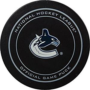 2015 NHL Stanley Cup Playoffs Vancouver Canucks Hockey Game Puck in Acrylic Cube