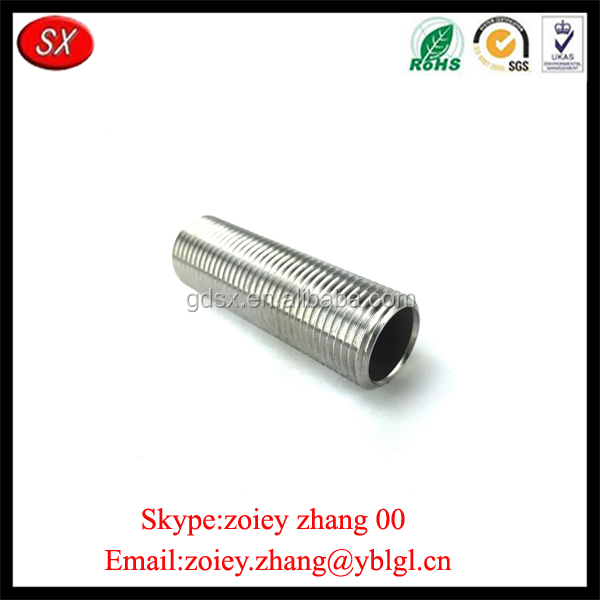 Customized Made Precision Adjustable Metal All-thread Tube Nipple