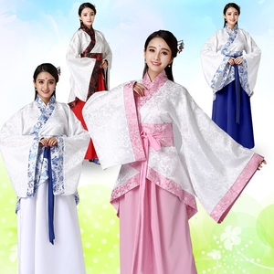 Wholesale Ladies Clothing Embroidery Fabrics Traditional Chinese Hanfu Robes Oriental Ancient Clothing DL2826