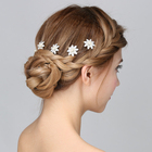 Wholesale Handmade Headbands Wedding White Alloy Flower Rhinestone Hair Accessory Bridal Hair Pin For Women
