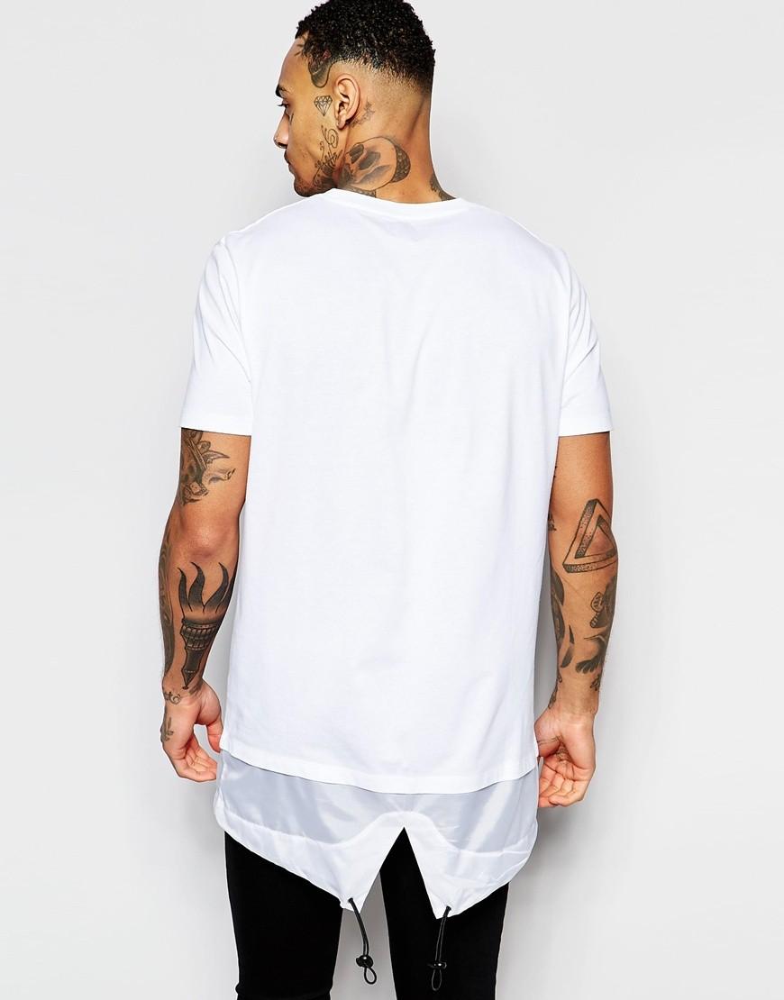 Custom T-shirt Hip Hop Men 95 Cotton  5 Elastane T Shirt Men Long ... 5e4b0b983f2