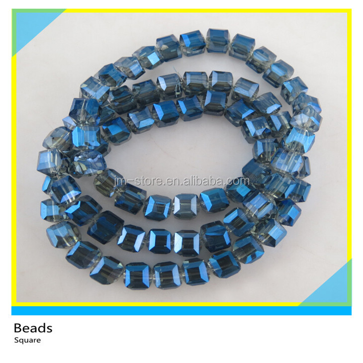 Assurance Quality Wholesale Trade Elements Crystal Blue Square Beads for Decoration