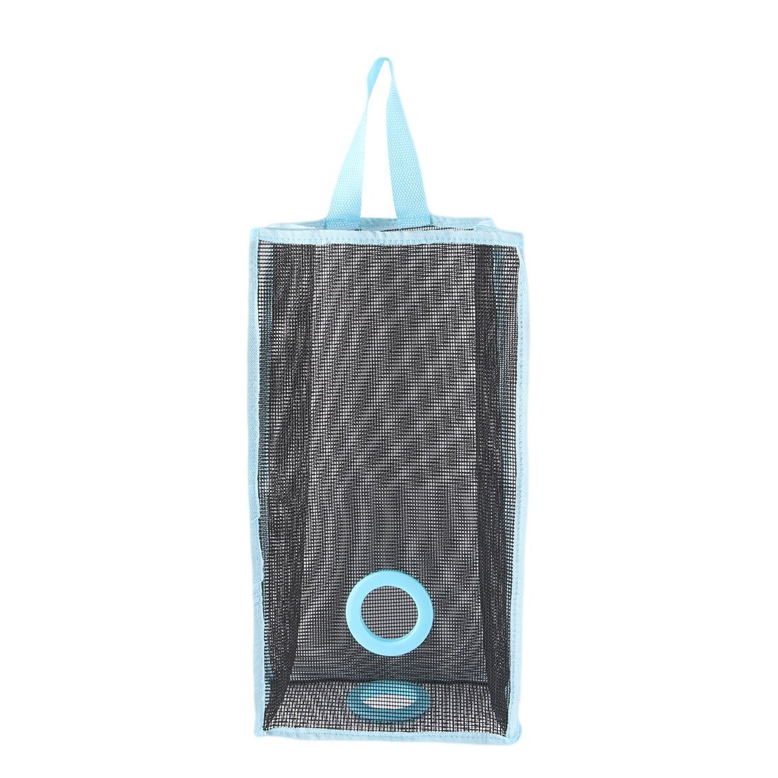 uxcell PVC Mesh Kitchen Bathroom Wall Hanging Grocery Bag Holder Storage Container Blue